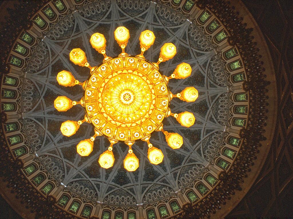 Große Sultan Qaboos Moschee große Gebetshalle / Sultan Qaboos Grand Mosque large prayer hall
