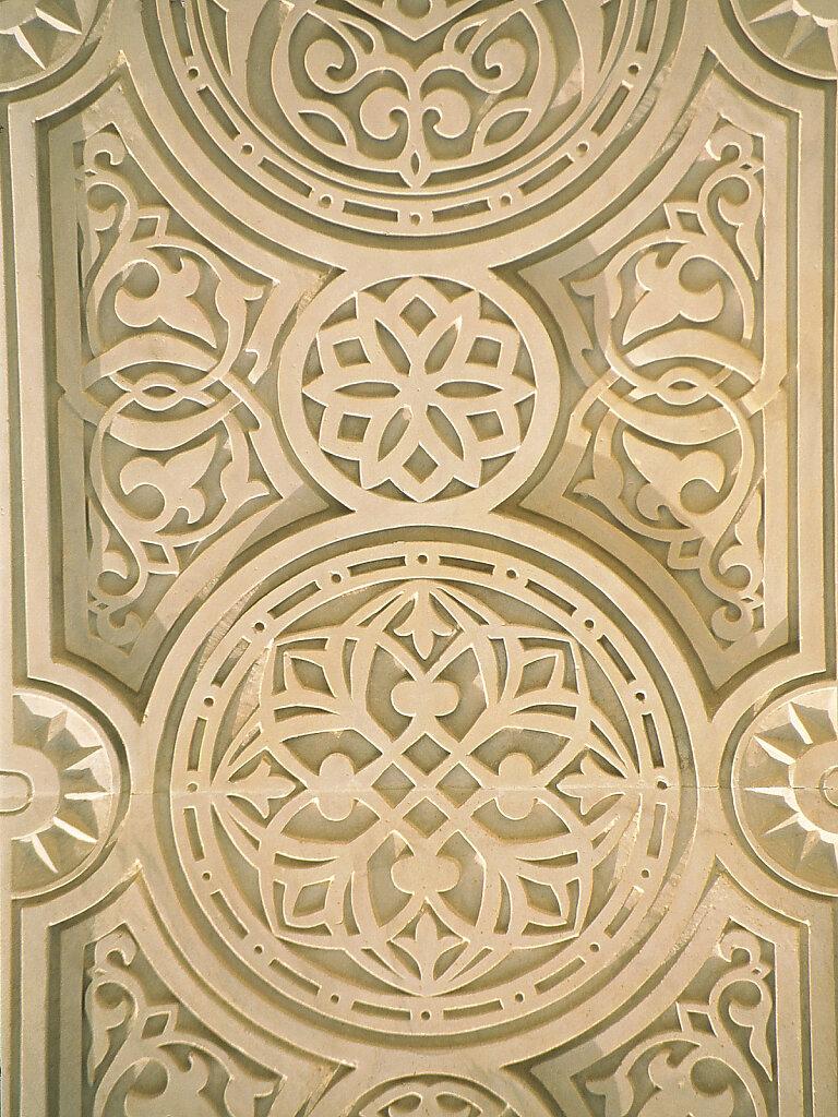 Große Sultan Qaboos Moschee Stein Ornamentik / Sultan Qaboos Grand Mosque stone ornamentation