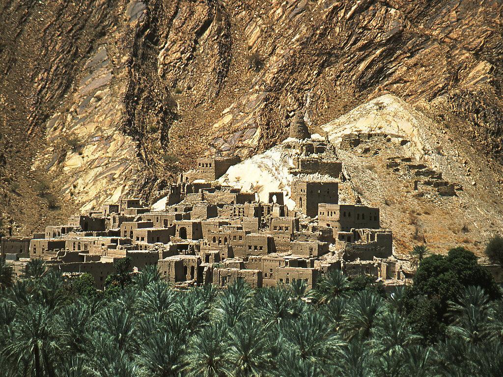 verlassene Altstadt von Birkat Al Mauz / Birkat Al Mawz abandoned old town