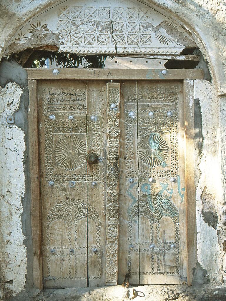 Tür in Ibra Holzornamente / Door in Ibra Wooden Ornaments