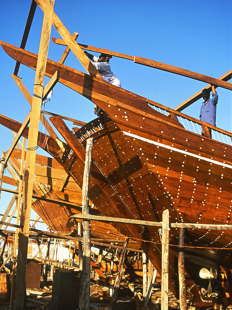 Dhauwerft in Sur / Dhow Shipyard in Sur